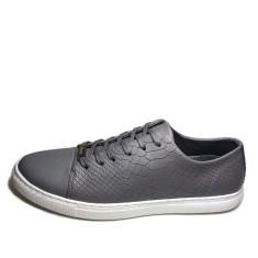 Urban range leather python men's shoes in grey