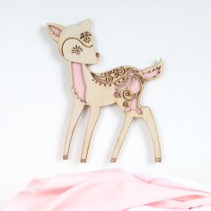 Woodland Creatures - Deer timber wall art