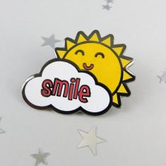 Sunny Enamel Pin Badge