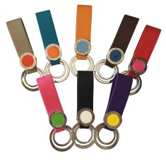 Double colour keyring (various colours)
