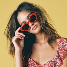 Darcy red sunglasses
