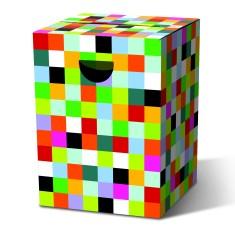 Cardboard Stool - Mosaic