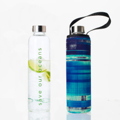 Glass is greener 750ml bottle with glazer print carry cover