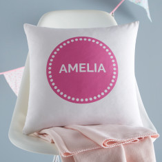 Personalised Children's Circle Cushion Cover