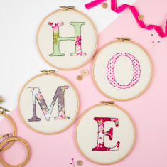 Home hoop artworks (set of 4)