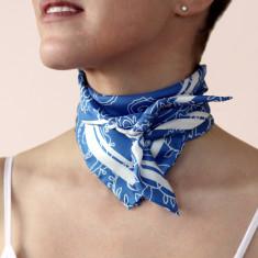 Cobalt paisley scarf