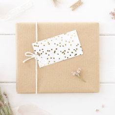 Silver or Gold Foil Spots Gift tags (Set of 10)