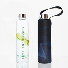 Glass is greener 750ml bottle with prism print carry cover