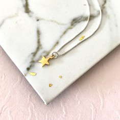 Gold divinity star necklace