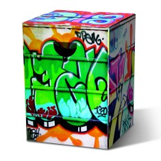 Cardboard Stool - Graffiti