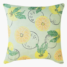 Citrus linen cushion