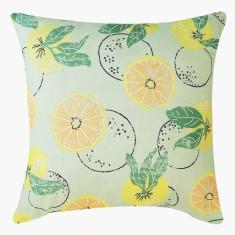 Citrus linen cushion