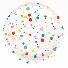 Multicolour bubbles party plates (2 pack)