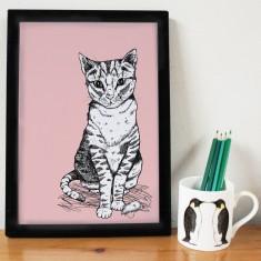 Tally Tabby Cat Print