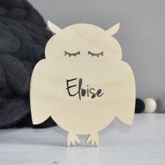 Personalised Kids' Owl Bedroom Door Sign
