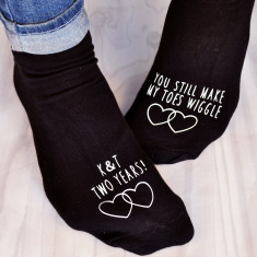 You make my toes wiggle anniversary socks