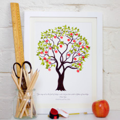 Teachers Apple Tree Print