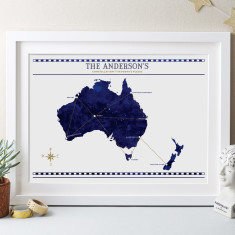 Constellation Of Favourite Places Personalised Print