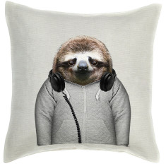 Sloth linen cushion