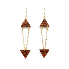 Triangle chandelier earring