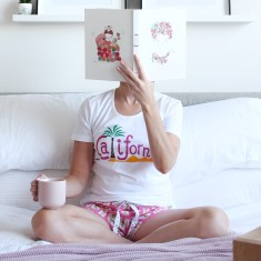 California Dreaming Pyjama Shorts + Tee Set