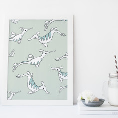 Sea Dragons Fine Art Nursery Print