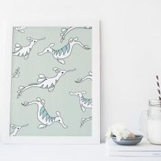 Sea Dragons Fine Art Nursery Print