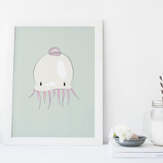 Jellyfish Fine Art Print - Nursery Wall Art for Kids