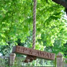 Personalised Up & Away Oak Garden Swing