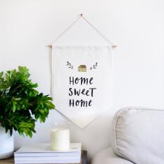Home sweet home wall flags