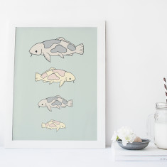 Koi Carp Fine Art Print - Nursery Wall Art for Kids