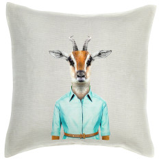 Gazelle linen cushion