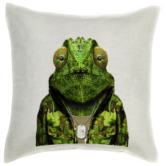 Chameleon linen cushion cover