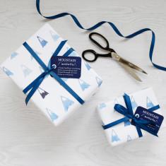 Blue mountains watercolour gift wrap set