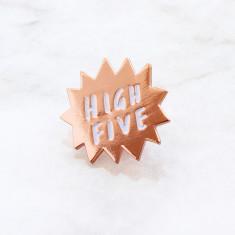 High Five Enamel Pin