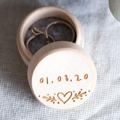Personalised Wedding Day Ring Box