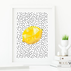 Fruity kitchen print