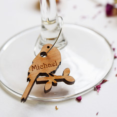 Personalised Bird Wine Glass Charms (Set of 6)