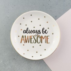 Always Be Awesome Personalised Ring & Trinket Dish
