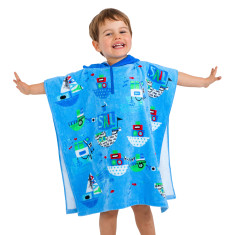 Kids' Sail Away Towel Poncho