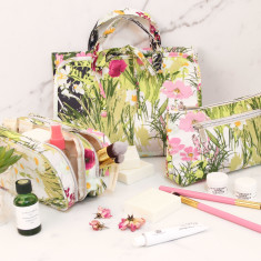 Cosmetic, Makeup, & Toiletries Bags (various designs)