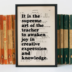 Teacher gift Einstein quote print