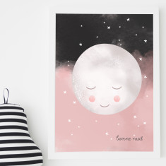 Moon children's print