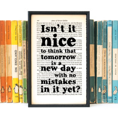 Anne Of Green Gables tomorrow quote book page print