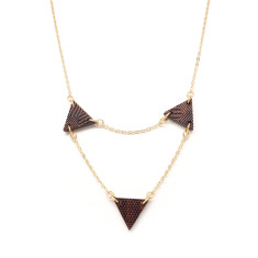 Triangle chandelier necklace