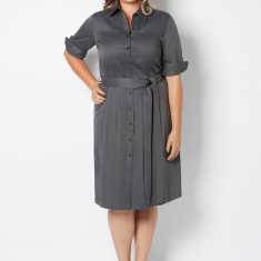Plus size shirt dress