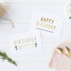 Gold Foil Birthday Cards