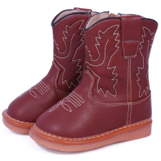 Leather Cowboy Squeaky Boots for Toddlers
