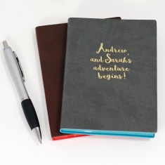 Personalised Adventure PU Leather Notebook