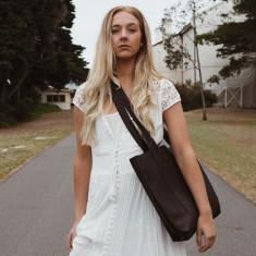 Brown Leather Weekender Bag